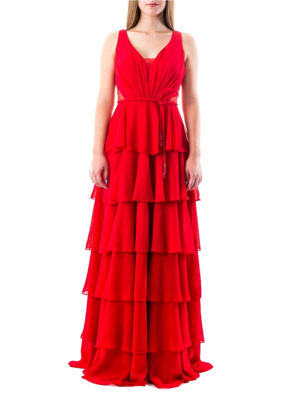 FOR COSTUME Red spoločenské šaty (2)