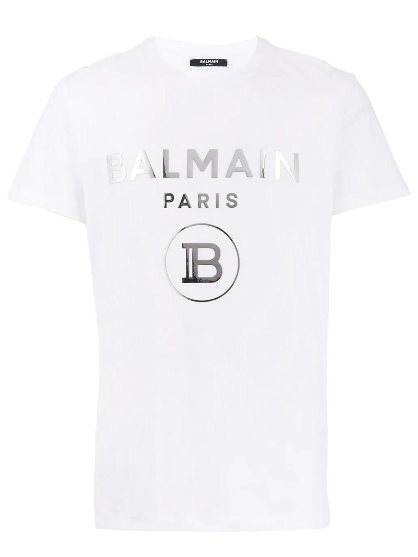 balmain logo panske tricko biele (1)