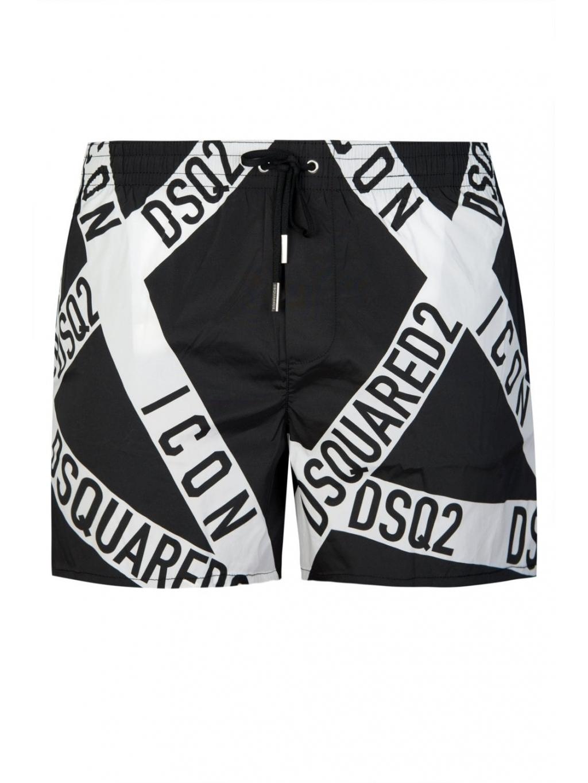 dsquared2 tape logo swim shorts