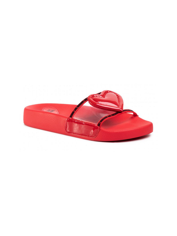LOVE MOSCHINO červené dámske šľapky JA28042G1AIT199A
