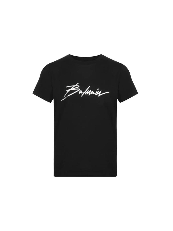balmain logo tee panske tricko cierne (1)
