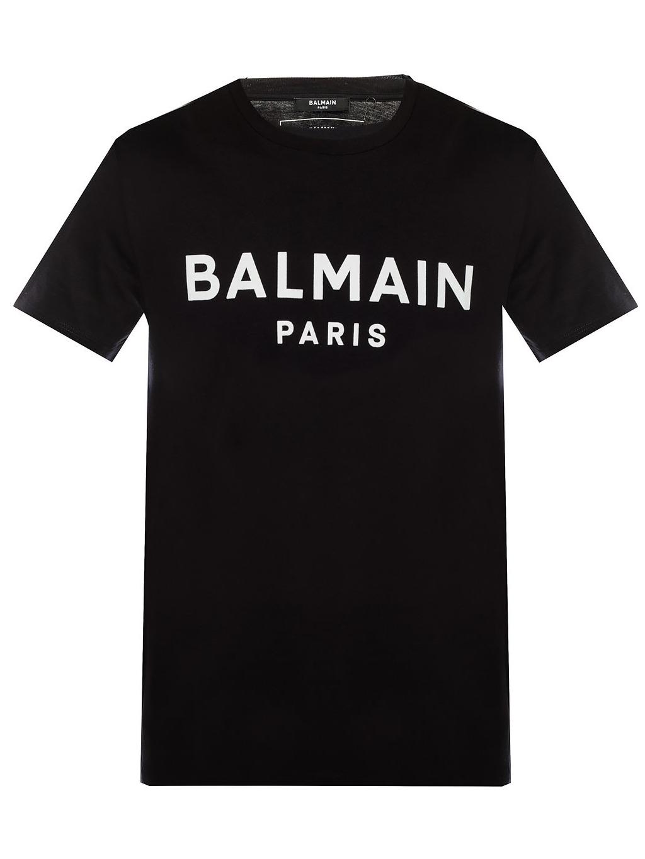 balmain paris logo panske tricko cierne th11601 (4)