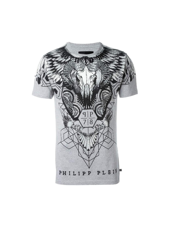 231dafbaf9d9 Exkluzívne pánske tričko PHILIPP PLEIN ALEX. Odvážny vzor. Zmyselnosť.