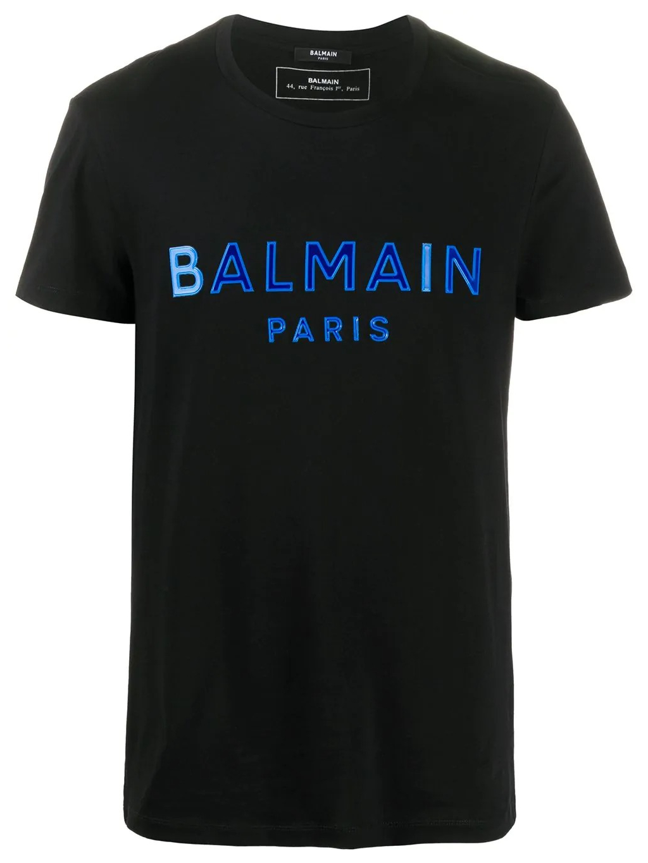 balmain paris logo blue tricko panske
