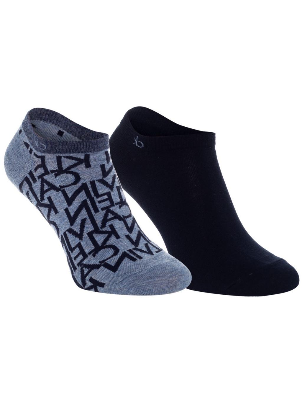 CALVIN KLEIN Logo 2 Pack ponožky (3)
