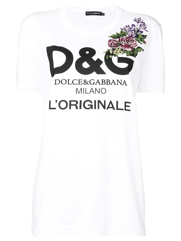 DOLCE & GABBANA Floral Cross tričko (4)