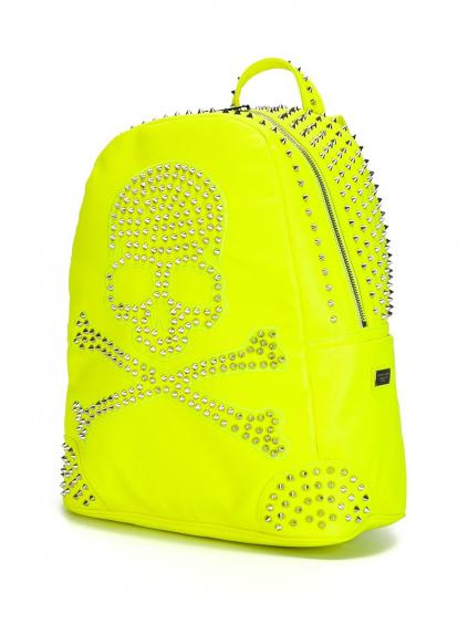 philipp plein backpack pirate neon yellow 2