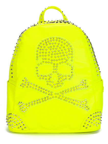 philipp plein backpack pirate neon yellow