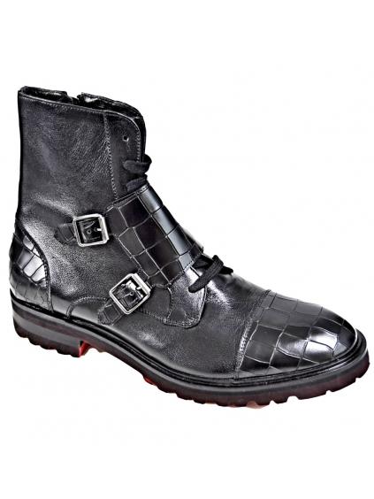RICHMOND Black Label Uomo Nero členkové topánky (2)