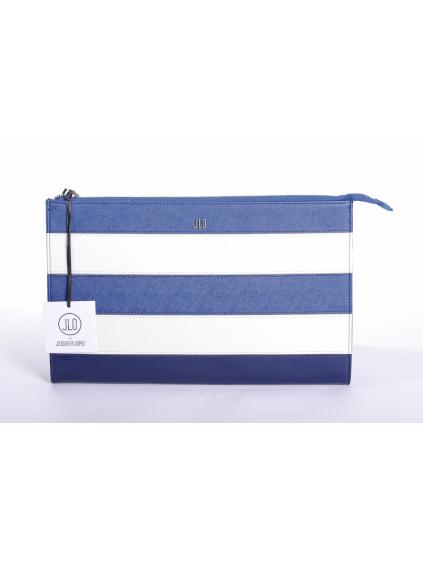 jennifer lopez jlo modrá biela listová dámska kabelka 1