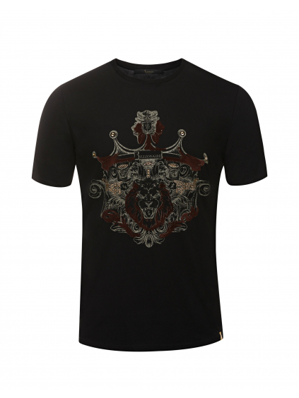 O18C MTK2612 BTE014N 0216 shirt ss lion billionaire pánske tričko čierne