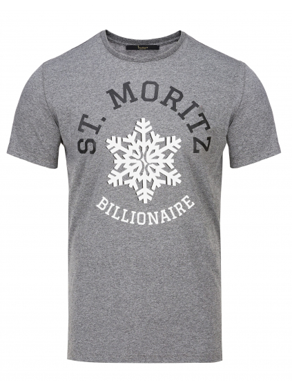 O18C MTK2622 BTE014N 10 shirt winter club grey billionaire pánske tričko sivé
