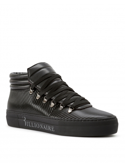 O18S MSC1628 BLE042N 0292 mid top sneakers original billionaire pánske tenisky čierne