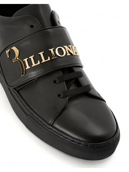O18S MSC1633 BLE042N 0293 lo top sneakers statement black gold billionaire pánske tenisky čierne zlaté