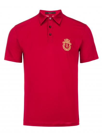 O18C MTK2631 BTE014N 13 polo shirt ss crest red billionaire pánske tričko červené