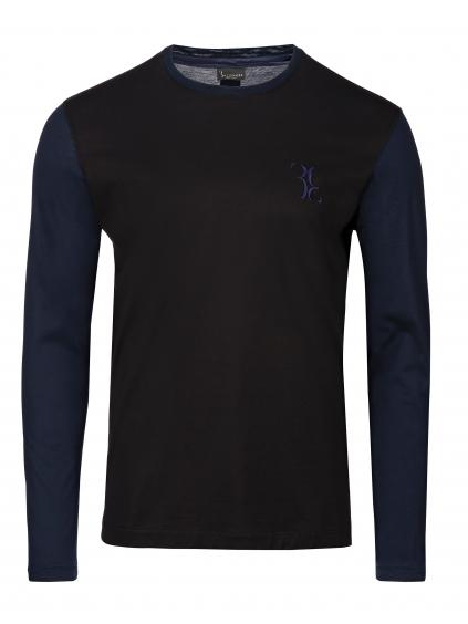 O18C MTK2639 BTE014N double B billionaire pánske tričko dlhe cierne modré