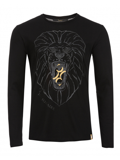 O18C MTK2614 BTE014N 02 ls lion billionaire pánske dlhé tričko čierne 1
