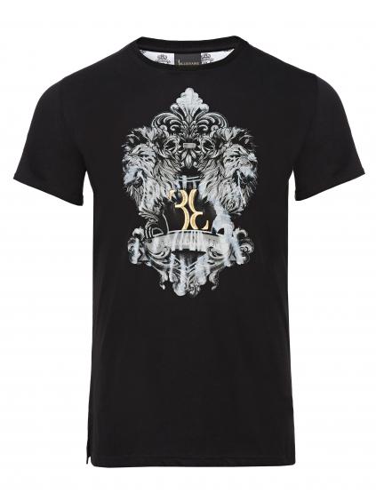 O18C MTK2659 BTE014N 02 double L billionaire pánske tričko čierne