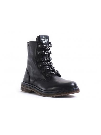 fdaa4b536917e JUST ANOTHER COPY Chain dámske členkové topánky cierne (3)