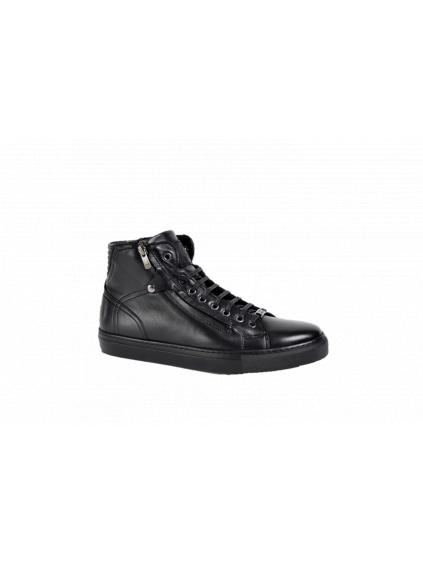 roberto serpentini nero black pánske členkoé topánky zimné (2)