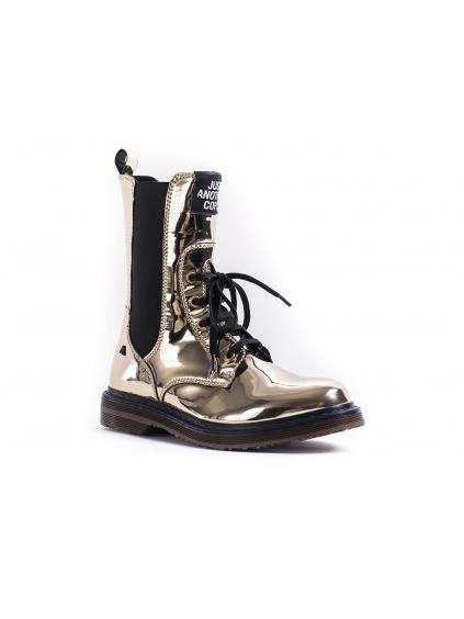 JUST ANOTHER COPY Stretch dámske členkové topánky zlate gold (5)