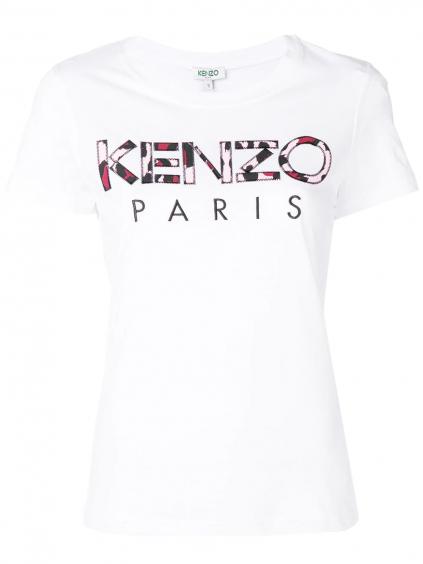 kenzo classic fitted tshirt 2TS72199301 dámske tricko biele (3)