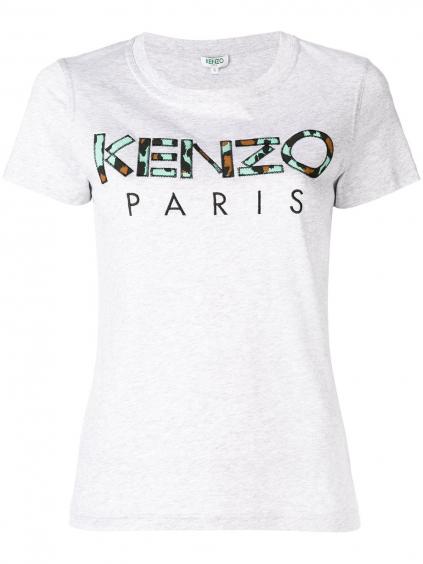 6753736b104b kenzo classic fitted tshirt 2TS72199393 grey damske tricko sive (4)