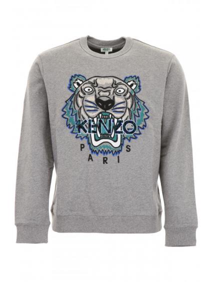 kenzo leopard tiger sweatshirt 5SW0884XG95 dove grey panska mikina siva (3)