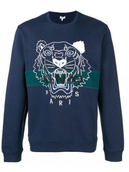 kenzo urban tiger sweatshirt 5SW0784XF78 ink blu panska mikina modra (1)
