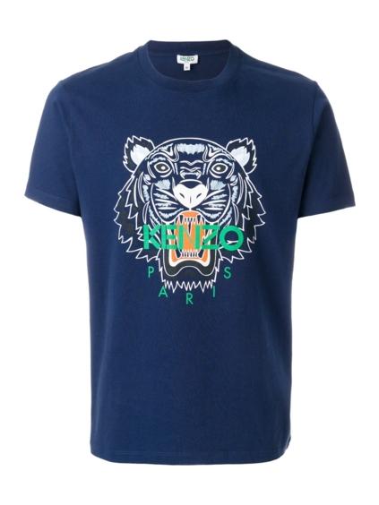 kenzo tiger raglan tshirt 5TS0244YB blu panske modre tricko (1)