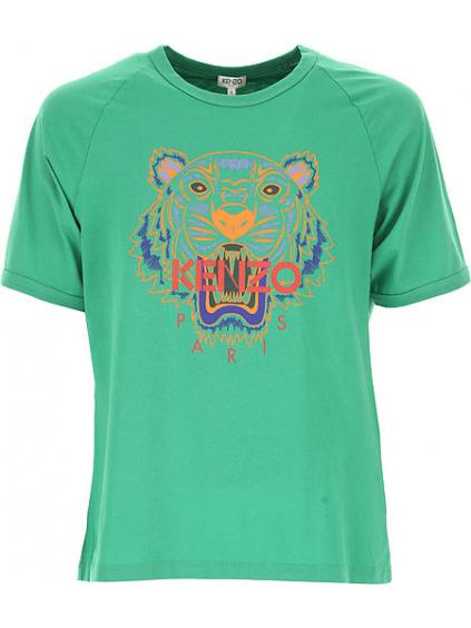 kenzo tiger raglan tshirt 5TS0244YB57 green panske tricko zelene (4)