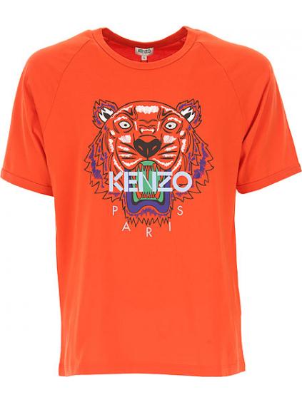 7379701bb2cf kenzo tiger raglan tshirt 5TS0244YB21 medium red panske tricko oranzove  cervene (2)