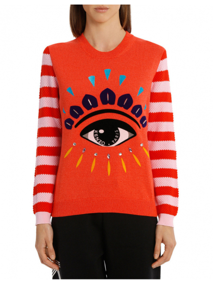 kenzo eye relaxed jumper medium red 2T04313XD21 damsky sveter oranzovy (2)