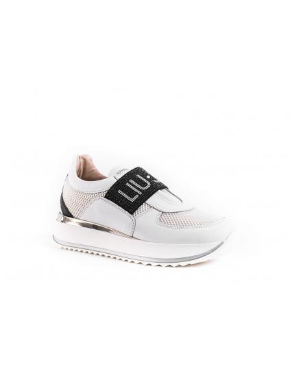 66a2eae10f17 liu jo scarpe bianco nero damske tenisky biele (2)