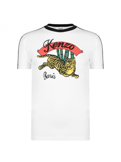 kenzo jumping tiger panske tricko biele cierne (1)