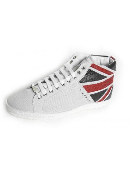 RICHMOND pánske topánky biele kožené