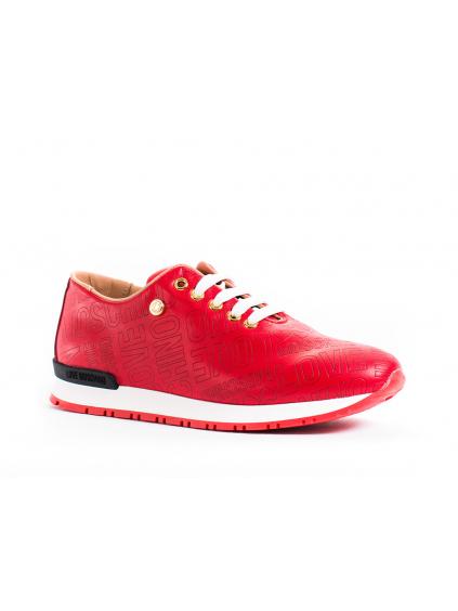 Love Moschino Embossed dámske tenisky JA15022G13ID0500 rosso cervena (6)