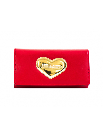 love moschino nappa pu rosso JC5547PP11LM0500 damska penazenka cervena zlata (2)