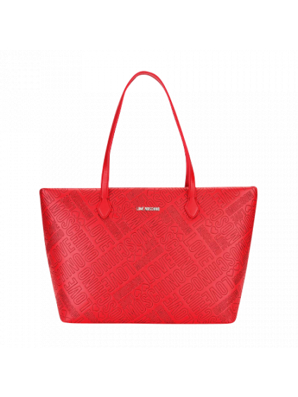 Love Moschino Embossed Rosso– dámska kabelka