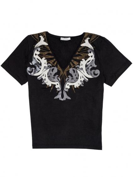 Versace Collection dámske tričko čierne (1)