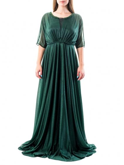 FOR COSTUME Green spoločenské šaty (3)