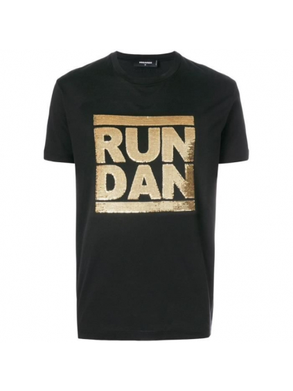 dsquared2 run dan tricko cierne (1)