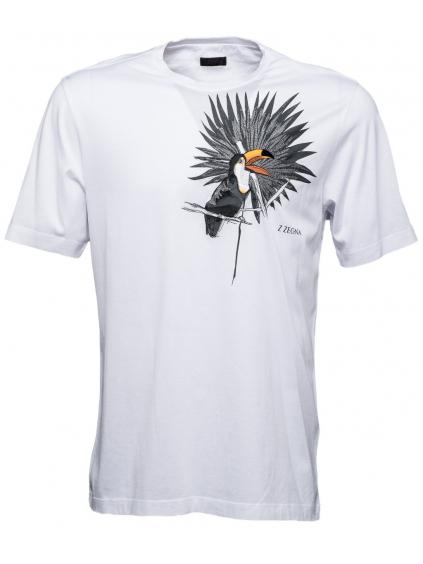 z zegna bird white panske biele tricko (2)
