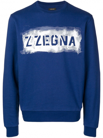 Z ZEGNA Logo Blue mikina