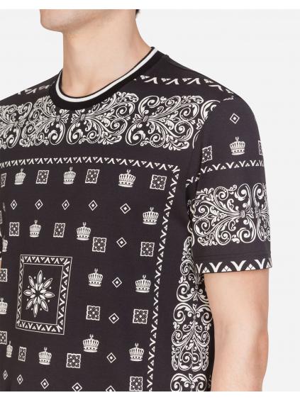 Dolce & Gabbana Bandana print pánske tričko G8KD0TFI7G91