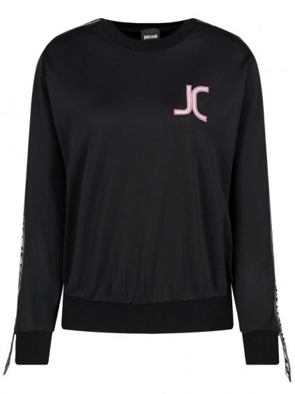 JUST CAVALLI JC Logo Black mikina (1)