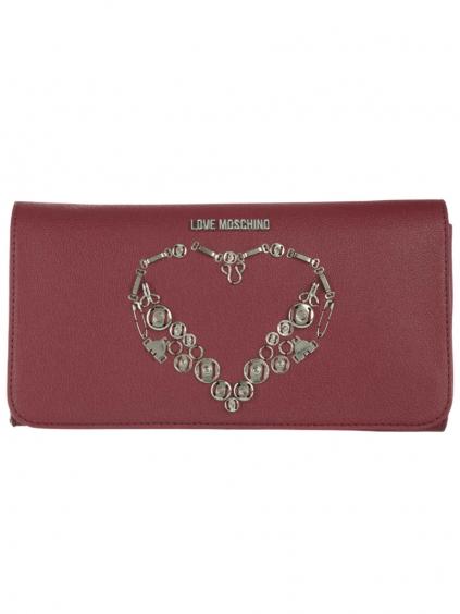 LOVE MOSCHINO Small Rosso listová kabelka (3)