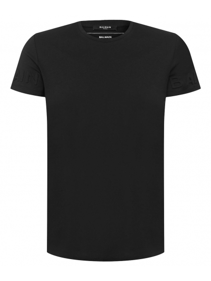 balmain paris logo black panske tricko cierne (1)