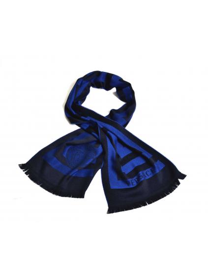 VERSACE šál modrý