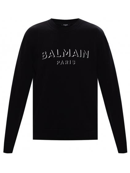 balmain paris logo black mikina panska (4)